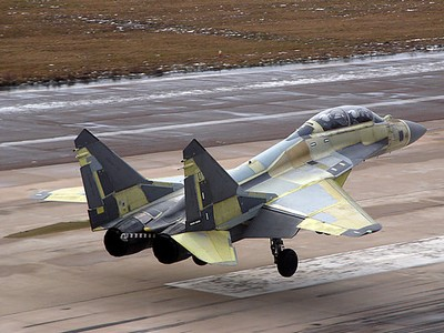 """МиГ-29КУБ выполнил пробежку по палубе крейсера """"Викрамадитья"""""""